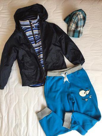Paka chłopiec 128cm : kurtka polar spodnie dresowe