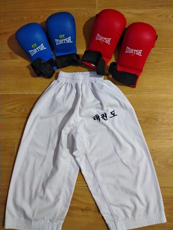 Перчатки накладки детские дзюдо каратэ 4-6 лет