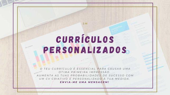 CV's personalizados e criativos