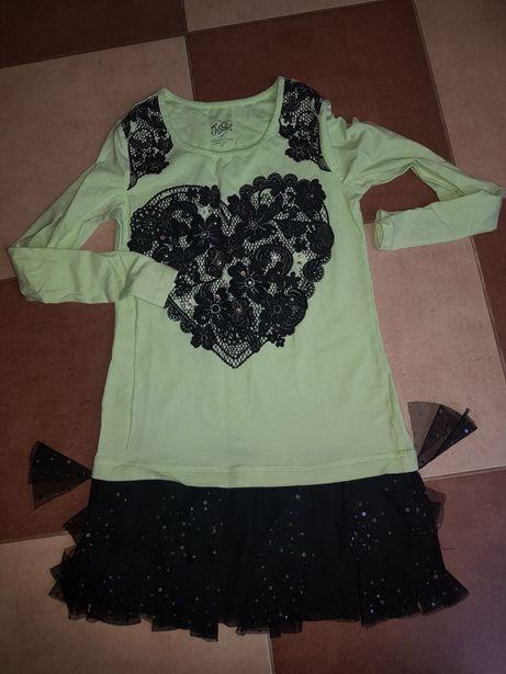 Zestaw paka ubrań dla dziewczynki 7-10lat spodnie guess tunika sukienk