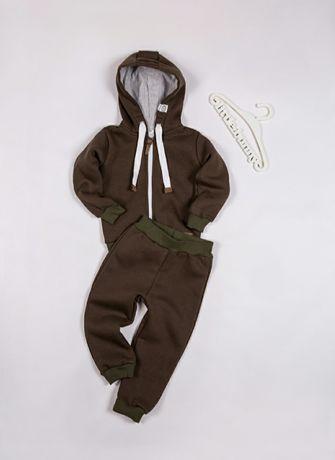 Спортивный костюм Little Bunny толстовка брюки, теплый 92 см, 1-2,5 г