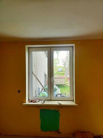 Okno pcv 130x153 cm +parapet wewnętrzny..