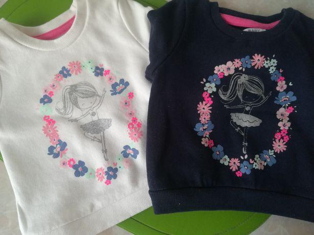 Nowe bluzy dresowe dla dziewczynki rozmiar 68