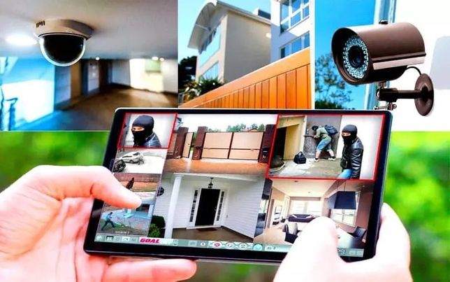 Установка охранной сигнализации и видеонаблюдения