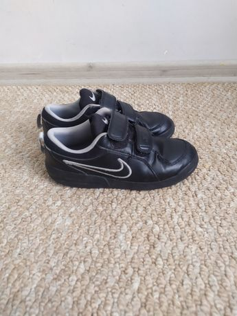 Черные осенние кроссовки Nike 32р-21см на мальчика, кросовки липучки