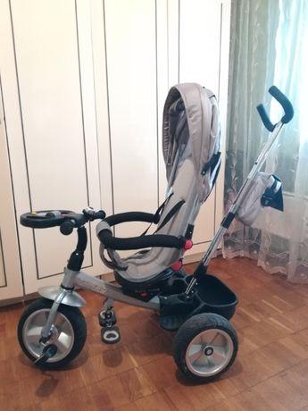 Детский трехколесный велосипед Turbo Trike M 3204HA-2 (Беж) Надувные