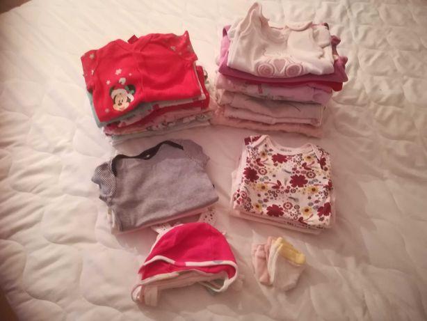 Ubranka niemowlęce dla dziewczynki 0-3 miesiące