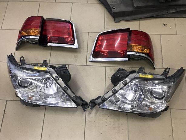 Фары передние LX570/450d, Ксенон блоки, лампы, бампер, капот, фонари