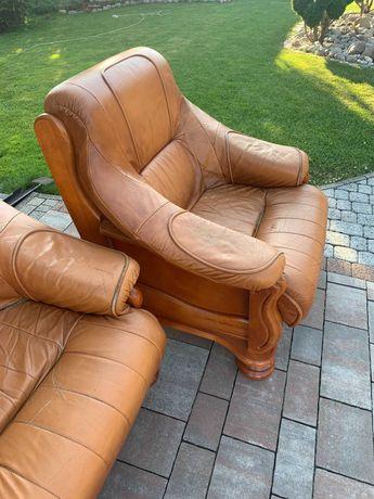 Dwa fotele skórzane