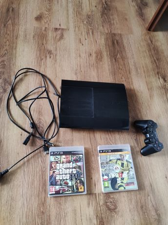 Konsola Ps 3 superslim +2 gry