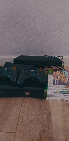 Xbox 360 (+ Kinect, 7 gier, 2 pady, pełne okablowanie!)