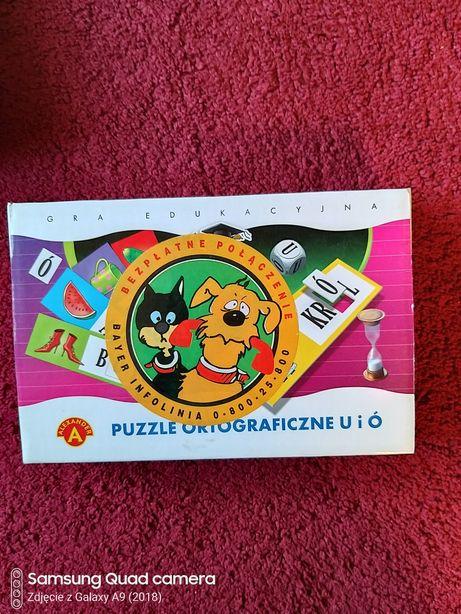 Sprzedam grę edukacyjną-puzzle ortograficzne ó i u