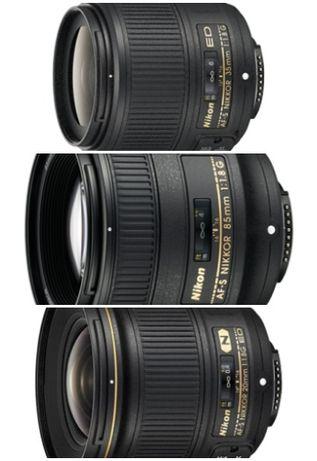 Lentes Nikon 20 +35 + 45 + 85 1.8 f mount