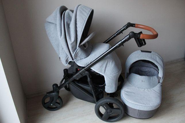 Wózek dziecięcy 2w1 BEXA ULTRA NEW szary + gratisy