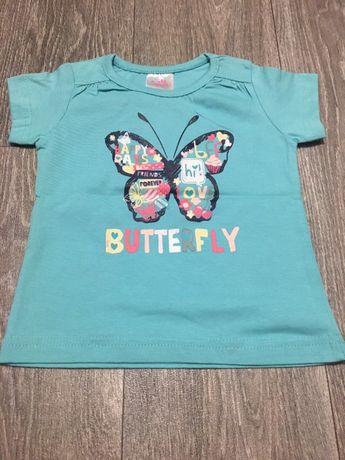T-shirt z motylkiem