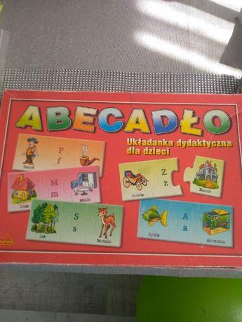 gra edukacyjna układanka dydaktyczna puzzle dla dzieci abecadło 5lat