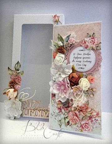 kartka ręcznie robiona na urodziny urodzinowa imieniny podziękowanie