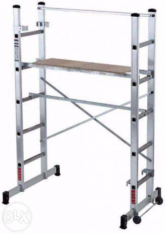 Andaime Móvel em Aluminio c/ plataforma e guarda-corpos 2,5 mts altura
