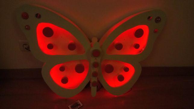 Candeeiro / Aplique borboleta de tecto / parede