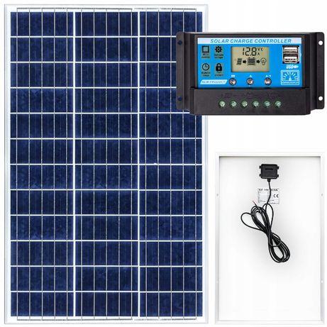 Panel solarny bateria słoneczna 70w 12v regulator [ZES263]
