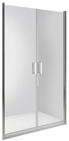 Drzwi prysznicowe do wnęki uchylne dwuskrzydłowe DUO ACTIVE 90x190 cm