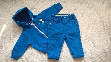 Rezerved komplet bluza, jeansy 6-12 mies