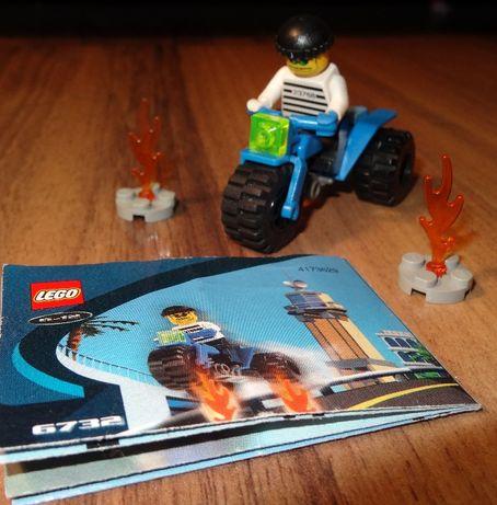 Lego 6732 złodziej motocykl trójkołowy klocki zestaw