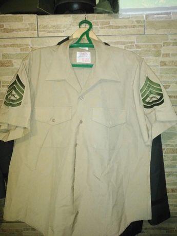 Рубашка КМП США USMC, коммендор-сержант с коротким рукавом, размер XL