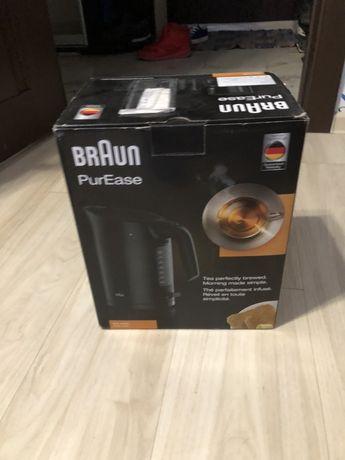 Электро чайник Braun (чёрный)