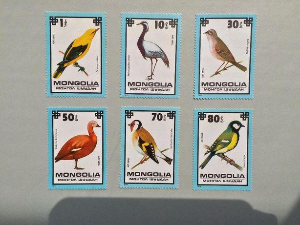 Продам редкие коллекционные марки птицы Монголия