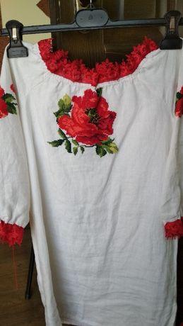 вишита сорочка для дівчинки 8-9 років