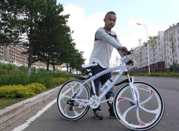 "+БОHУC!! Горный велосипед BMW Black White нa литыx диckax 26"" W0005"