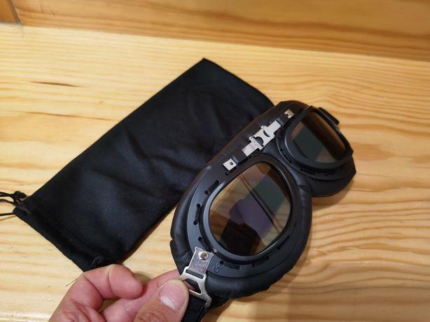Óculos mota tipo vintage / café Racer / scrambler NOVOS
