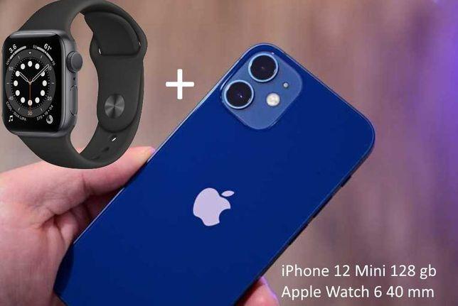 iPhone 12 mini 128 gb + Apple Watch 6 40 mm
