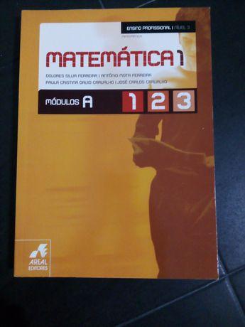 Livro de matemática, ensino profissional. Como novo. Nunca foi usado.