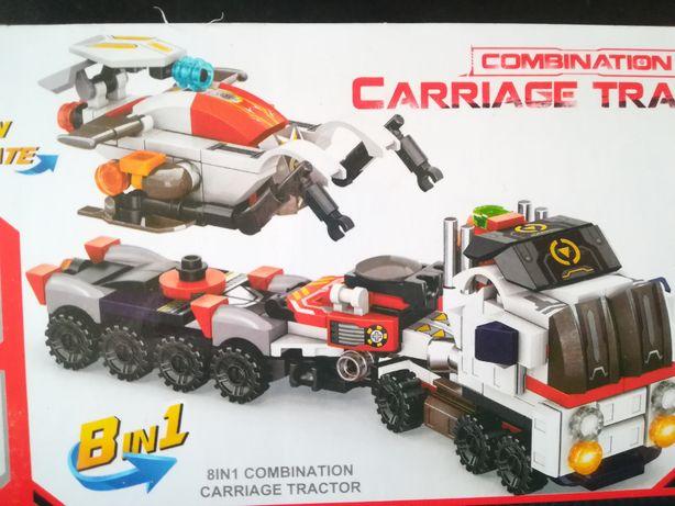Конструктор 8+2 Большой трал на 14 колесах+Робот Разведчик или 8 машин