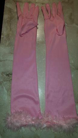 Перчатки рожеві розовые святкові