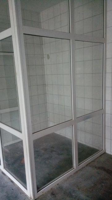 kabina/ściana/drzwi PCV