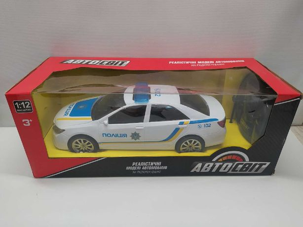 Полицейская машина  АвтоСвіт 1:12 на радиоуправлении звук свет