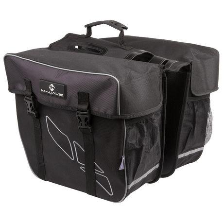 Dwukomorowa torba na bagażnik M-WAVE Amsterdam Double