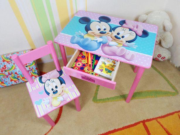 """Детский столик и стул """"Минни Маус"""" стол-парта стульчик от 1 до 7 лет"""
