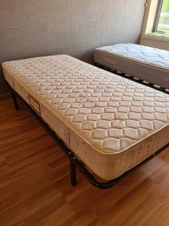 Colchão de molas para cama de solteiro com estrado laminado 1,95*0,95