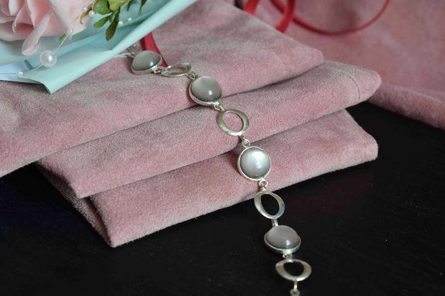 Срібний браслет   Браслет з перлами   Серебряный браслет