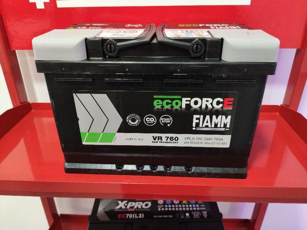 Bateria AGM 12V 70Ah 760A para Carro com Start & Stop