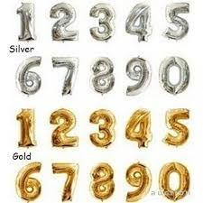 Надувные цифры фольгированные