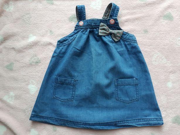 Sukienka z cienkiego jeansu Cool Club r. 74