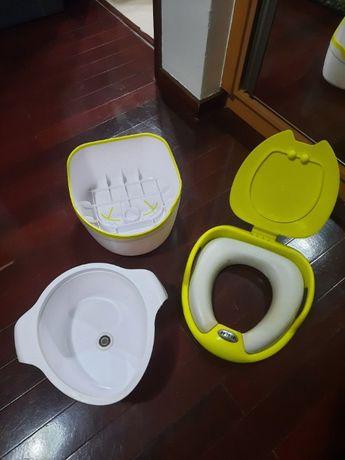 Penico multifunções da Jane e redutor de sanita IKEA.