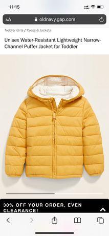Водонепроницаемая легкая куртка-пуховик для деток размер 5Т
