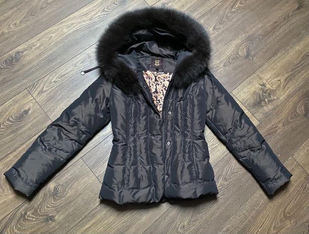 Пуховик куртка зимняя натуральный мех