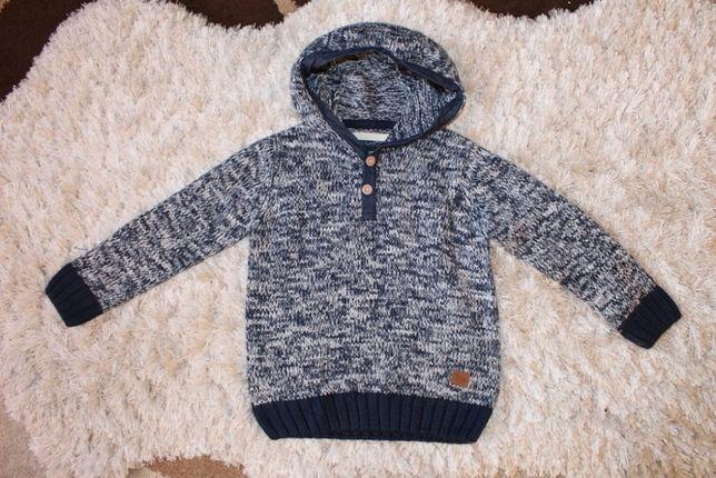 RESERVED ciepły sweterek dla chłopca rozm, 104